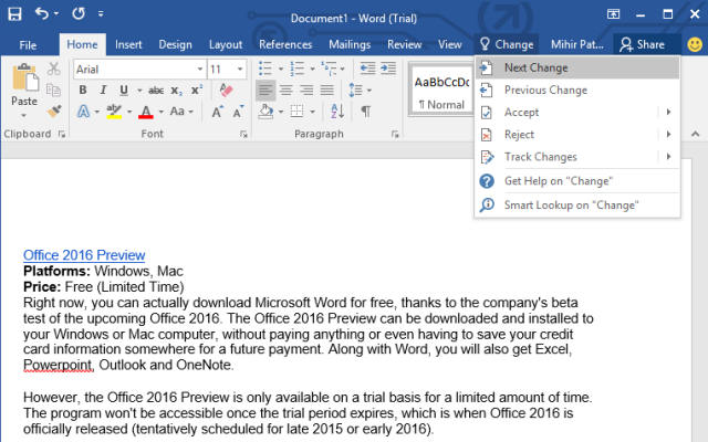 Microsoft Word free version download for Mac OS X